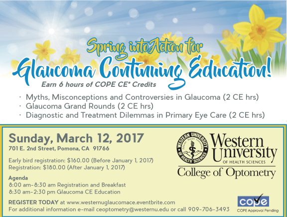 Spring into Action for Glaucoma CE
