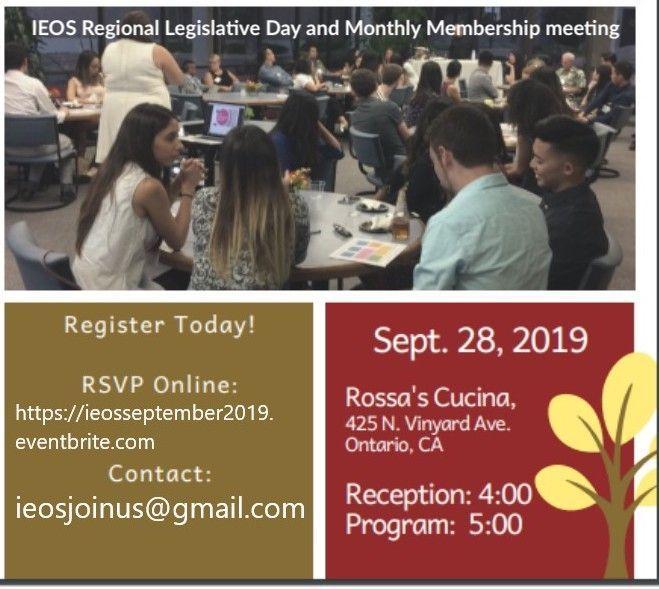COA Legislative Day and IEOS September Meeting